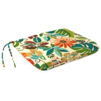 Outdoor Dining Seat Pad Cushion in Lensing Jungle