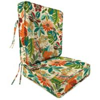 Outdoor Attached Deep Seat Cushion in Lensing Jungle