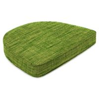 Outdoor Contoured Boxed Seat Cushion in Remi Palm