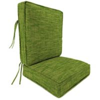 Outdoor Attached Deep Seat Cushion in Remi Palm