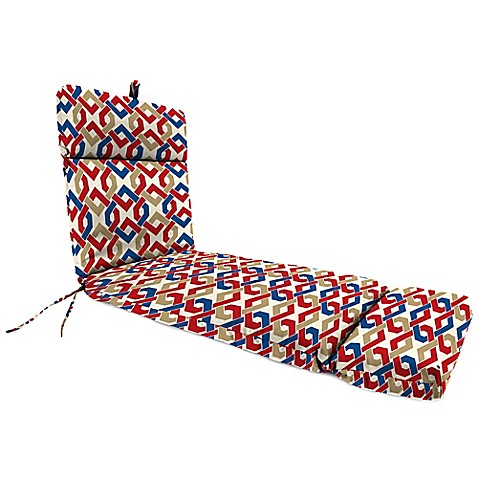 Buy outdoor chaise lounge cushion in rieser patriot from for Buy outdoor chaise lounge