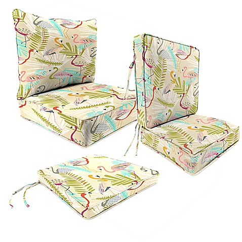 Outdoor Patio Cushions In Flamingos Spring