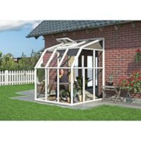 Palram 6-Foot x 6-Foot Sun Lounge 2 Sun Room in White