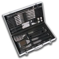 BergHOFF® Eclipse 33-Piece Stainless Steel BBQ Set with Ergonomic Handles
