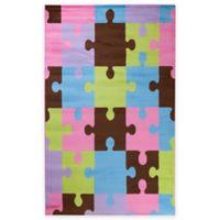 Concord Global Alisa 5-Foot x 7-Foot Jigsaw Puzzle Area Rug