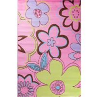 Concord Global Alisa Groovy Flowers 2-Foot 7-Inch x 4-Foot 1-Inch Accent Rug in Pink