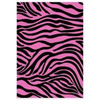 Concord Global Alisa Zebra 2-Foot 7-Inch x 4-Foot 1-Inch Accent Rug in Black