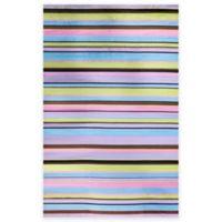Concord Global Alisa Stripes 5-Foot x 7-Foot Area Rug in Multicolor