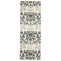 Feizy Mida Ikat 2-Foot 10-Inch x 7-Foot 10-Inch Runner in Charcoal