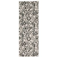 Feizy Mida Tribal Ikat 2-Foot 10-Inch x 7-Foot 10-Inch Runner in Pewter