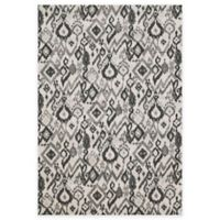 Feizy Mida Tribal Ikat 5-Foot x 8-Foot Area Rug in Pewter