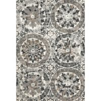 Feizy Mida Medallion 2-Foot 2-Inch x 4-Foot Accent Rug in Stone