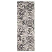 Feizy Mida Medallion 2-Foot 10-Inch x 7-Foot 10-Inch Runner in Stone