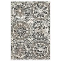 Feizy Mida Medallion 5-Foot x 8-Foot Area Rug in Stone