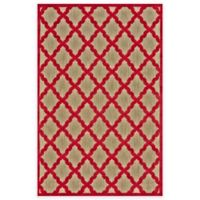 Feizy Tahla I 2-Foot 1-Inch x 4-Foot Accent Rug in Tan/Red