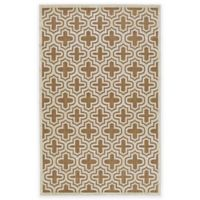 Feizy Tahla II 2-Foot 1-Inch x 4-Foot Accent Rug in Tan/Cotton
