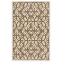 Feizy Tahla II 5-Foot 7-Inch x 7-Foot 6-Inch Area Rug in Tan/Cotton