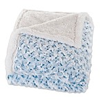 Nottingham Home Plush Flower Fleece Throw Blanket in Blue