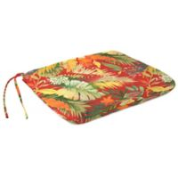 Outdoor Dining Seat Pad Cushion in Tomesa Fireball