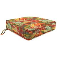 Outdoor Boxed Edge Seat Cushion in Tomesa Fireball