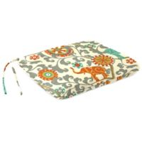 Outdoor Dining Seat Pad Cushion in Menagerie Cayenne
