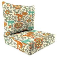 Outdoor 2-Piece Deep Seat Cushion in Menagerie Cayenne