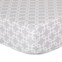 The Peanut Shell® Geometric Fitted Crib Sheet in Grey