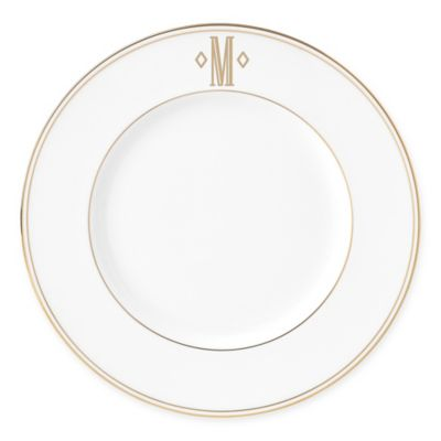 Lenox® Federal Gold Monogrammed Block Letter \ M\  Accent Plate  sc 1 st  Bed Bath \u0026 Beyond & Buy Monogrammed China from Bed Bath \u0026 Beyond