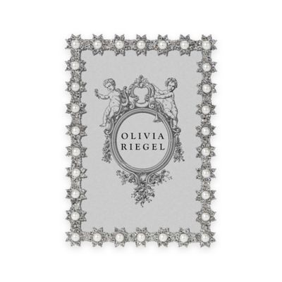 olivia riegel 4 inch x 6 inch swarovski crystal and faux pearl accented