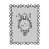 Olivia Riegel 5-Inch x 7-Inch Swarovski® Crystal and Faux Pearl Accented Diana Picture Frame