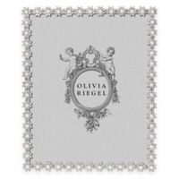 Olivia Riegel 8-Inch x 10-Inch Swarovski® Crystal and Faux Pearl Accented Diana Picture Frame