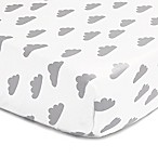 The Peanut Shell® Clouds Fitted Crib Sheet in Grey