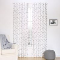 The Peanut Shell® Clouds Window Panel Pair in Grey