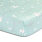 The Peanut Shell® Woodland Fitted Crib Sheet in Mint