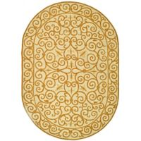 Safavieh Chelsea 5-Foot 3-Inch x 8-Foot 3-Inch Wool Rectangle Rug in Ivory and Gold