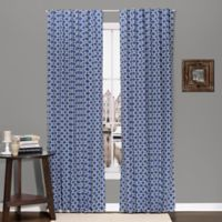 The Peanut Shell® Geometry Blackout Window Panel Pair in Navy