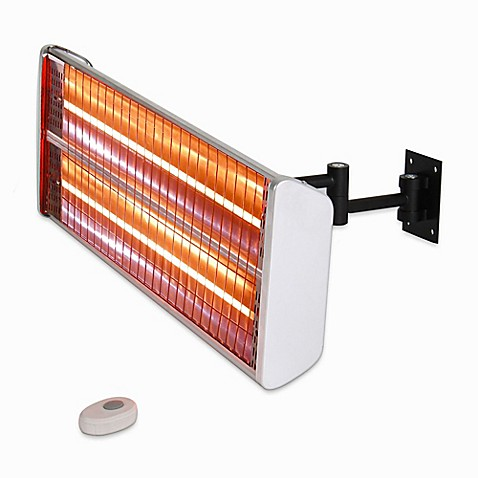 Energ hea 21531 wall mounted electric infrared outdoor - Infrared bathroom heaters wall mounted ...