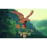 Good Directions Smithsonian Eagle Estate Weathervane in Polished Copper
