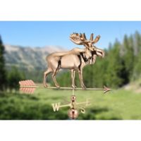 Good Directions Moose Weathervane with Arrow in Polished Copper