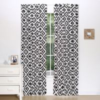 The Peanut Shell® Tile Blackout Window Panel Pair in Black/White