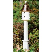 Good Directions Lazy Hill Farm Boxford Vinyl Birdhouse Post in White