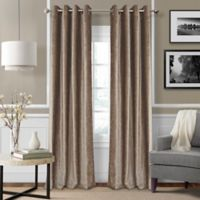 Elrene Victoria 84-Inch Room-Darkening Grommet Top Window Curtain Panel in Taupe