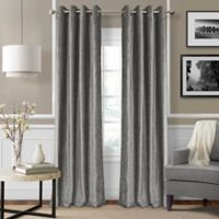 Elrene Victoria 95-Inch Room-Darkening Grommet Top Window Curtain Panel in Silver