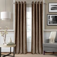Elrene Victoria 84-Inch Room-Darkening Grommet Top Window Curtain Panel in Bronze