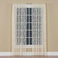 Petite Fleur 84-Inch Rod Pocket Window Curtain Panel in Ivory