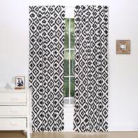 The Peanut Shell® Tile Window Panel Pair in Black/White