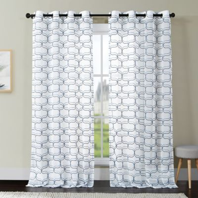 Curtains Ideas black and white panel curtains : Buy Black and White Curtain Panels from Bed Bath & Beyond