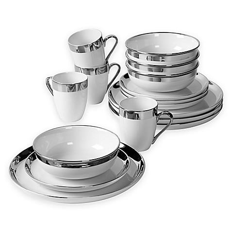 Studio TU® Sterling 16-Piece Dinnerware Set in White  sc 1 st  Bed Bath \u0026 Beyond & Studio TU® Sterling 16-Piece Dinnerware Set in White - Bed Bath \u0026 Beyond