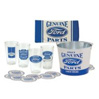 """Ford """"Genuine Parts"""" 18-Piece Pint Glass Gift Set"""