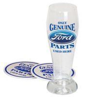"""Ford """"Genuine Parts"""" 3-Piece Pilsner Gift Set"""